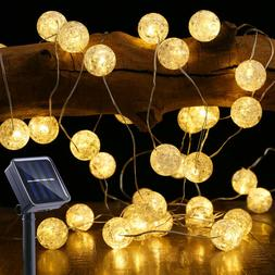 Solar String Fairy Lights Outdoor Indoor 12m 100 LED White C