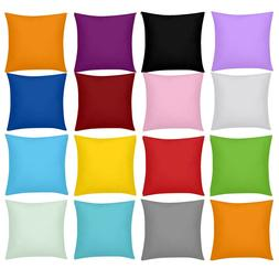 Solid Color Cushion Cover Square Throw Pillow Case Sofa Couc