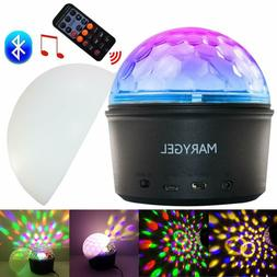 Sound Activated Rotating Crystal LED Strobe Lights Night Lig