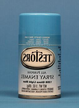 Testors Spray Enamel Paint Gloss Light Blue 3oz jar 85g #120
