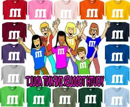 m&m t-shirt Halloween costume candy shirt youth adult infant