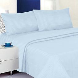 Twin Size Light Blue 400 Thread Count 100% Cotton Sateen Dob