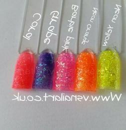 ultra shiny quality pastel bright neon iridescent