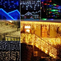 96-1000 LED Christmas String Indoor/Outdoor Icicle Curtain S