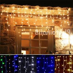 US 96-1000 LED Christmas String Indoor/Outdoor Icicle Curtai