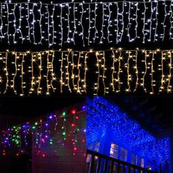 US Christmas Wedding Indoor Outdoor LED Icicle Curtain Light