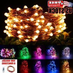 USB 10M LED Copper Wire String Light Indoor Outdoor Christma