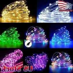 USB 5/10/20M LED Copper Wire String Light Indoor Outdoor Par