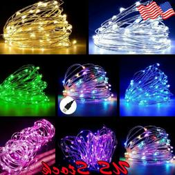 USB 5M / 10M / 20M LED Copper Wire String Indoor Outdoor Dec