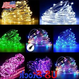 USB 5M/10M/20M LED Copper Wire String light Indoor Outdoor D