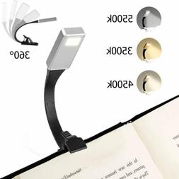 USB Rechargeable Clip On Book Light LED Flexible Reading Lam