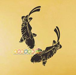 Wall Decor Decal Sticker Removable koi fish Carp 28""