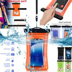 Waterproof Floating Phone Case Dry Bag Pouch Strap F iPhone