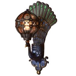 Waterproof Wall Lamp Peacock Wall Sconce Lighting Fixtures R
