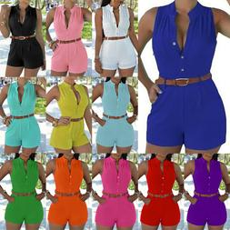 Women Party Jumpsuit Romper Shorts Pants Lady Summer Holiday