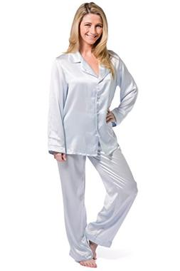 Fishers Finery Women's Classic Pure Mulberry Silk Pajama Set
