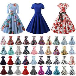 Women's Retro 50s 60s Vintage Rockabilly Style Pinup Swing E