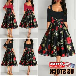 Women's Summer Boho Floral Long Maxi Evening Cocktail Party